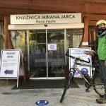 Dostava knjig na dom v času epidemije, Knjiga na biciklu, Novo mesto